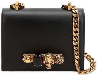 Alexander McQueen Embellished Leather Shoulder Bag