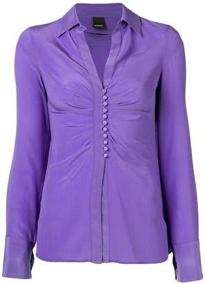 Pinko drapped button blouse