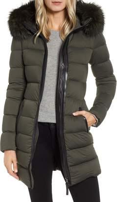Mackage Calla Genuine Fox Fur Trim Hooded Down Coat