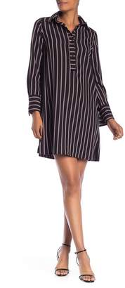 Max Studio Stripe Shirt Dress