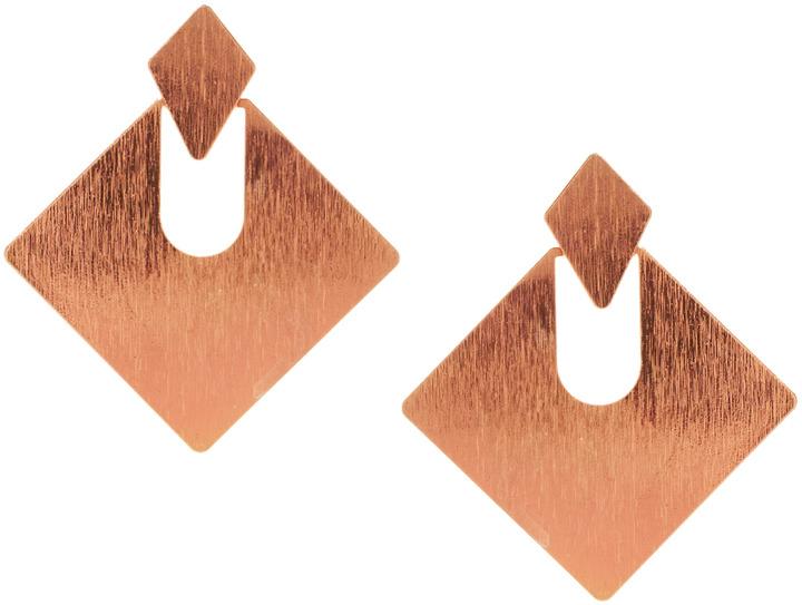 Asos Articulated Diamond Doorknocker Earrings