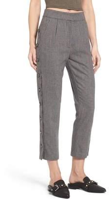J.o.a. Button Side Wool Blend Crop Trousers