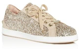 Jimmy Choo Women's Cash Glitter Lace Up Sneakers