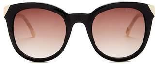 Ted Baker 52mm Full Rim Round Sunglasses