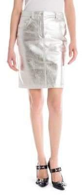 Moschino Metallic Leather Pencil Skirt
