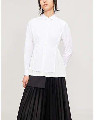 Noir Kei Ninomiya Pleated back cotton shirt