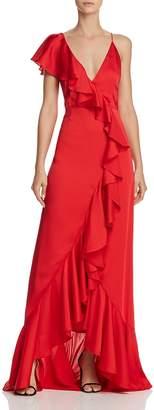 Jill Stuart Ruffle-Trim Gown