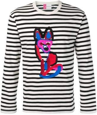 MAISON KITSUNÉ Acide fox striped T-shirt