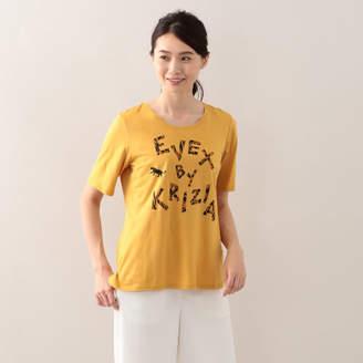 Evex by Krizia (エヴェックス バイ クリツィア) - EVEX by KRIZIA 【ウォッシャブル】ロゴアニマルTシャツ