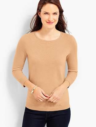 Talbots Cashmere Keyhole-Back Sweater