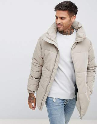 Pull&Bear Padded Jacket In Beige
