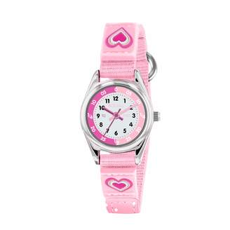 Tikkers Girls Analogue Classic Quartz Watch with Textile Strap TK0160
