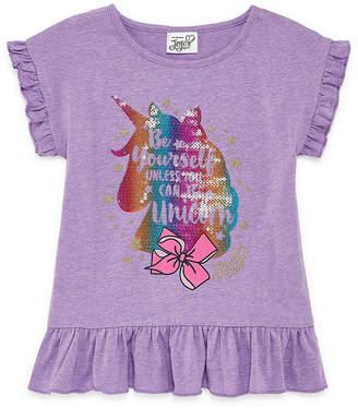Jo-Jo JOJO Jojo Crew Neck Short Sleeve Blouse - Preschool Girls