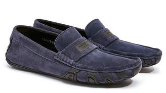 Harry's of London Jet Logo Navy Suede Driver Shoe