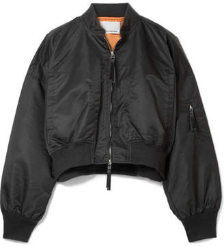 Alexander Wang Cropped Shell Bomber Jacket - Black
