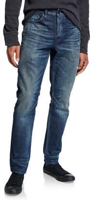 Hudson Men's Sartor Skinny Jeans with Exposed Zipper Details