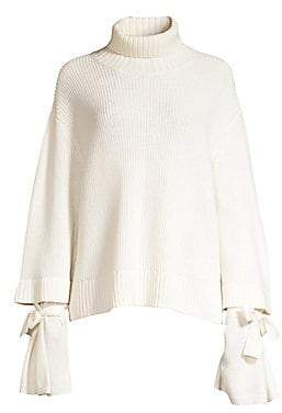 Mother of Pearl Women's Chunky Wool Knit Ribbed Turtleneck