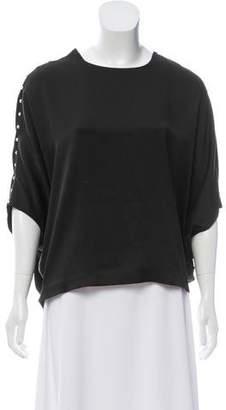 Chloé Embellished Silk Top