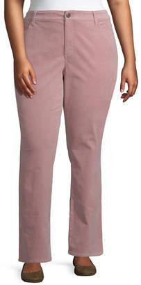 ST. JOHN'S BAY Striaght Leg Cord Pant - Plus