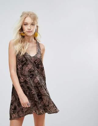 Free People Ellie Burnout Printed Mini Dress