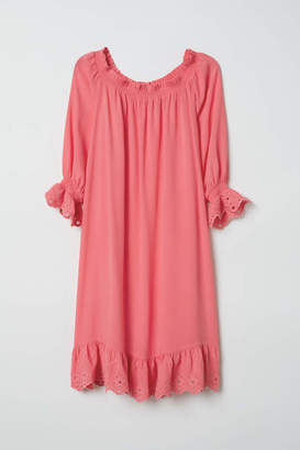 H&M Off-the-shoulder Dress - Coral pink - Women