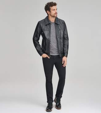 Andrew Marc VAUGHN LEATHER BOMBER