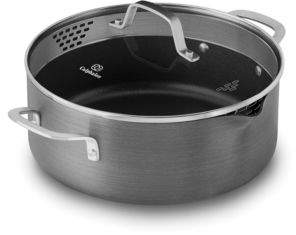 Calphalon Classic Nonstick Strain-and-Pour 5-Quart Dutch Oven with Lid