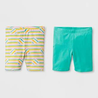 Cat & Jack Toddler Girls' Bike Shorts - Cat & JackTM Mint Green