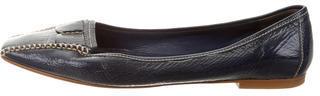 pradaPrada Patent Leather Square-Toe Flats
