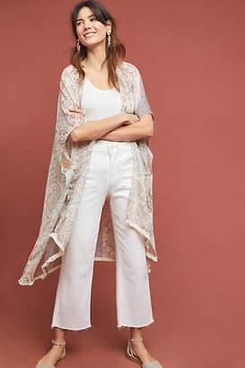 Anthropologie Sheer Floral Kimono