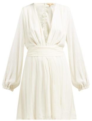 Melissa Odabash Look 1 Striped V Neck Mini Dress - Womens - Cream