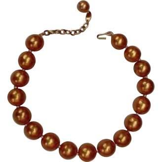 Chanel Vintage Orange Metal Necklace