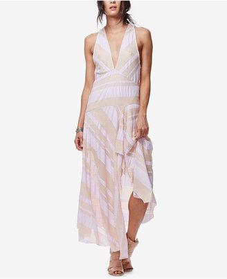 Free People Striped Deep V-Neck Dress $168 thestylecure.com