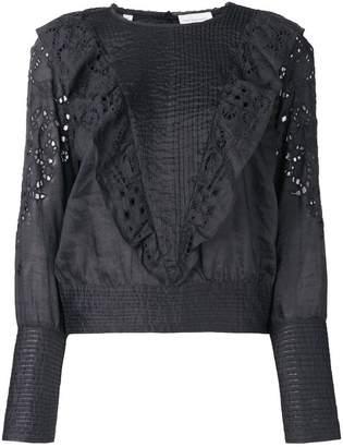Rosalie Les Coyotes De Paris ruffle lace blouse