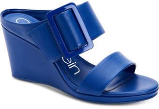 Calvin Klein Women's Brinlee Buckle Wedge Sandals Women's Shoes