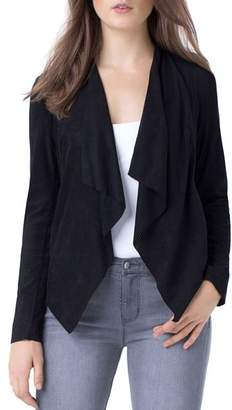 Liverpool Perforated Drape-Front Jacket