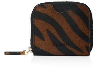 Whistles Murray Tiger Print Zip Around Wallet