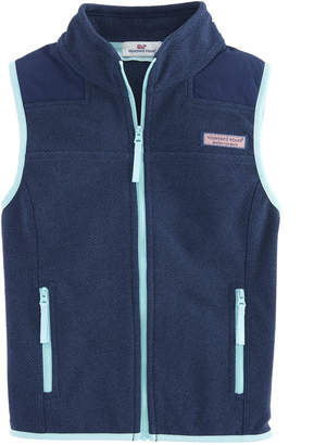 Vineyard Vines Girls Fleece Shep Vest