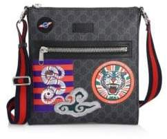Gucci GG Supreme Multicolor Patch Canvas Messenger Bag
