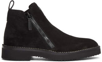 Giuseppe Zanotti Black Suede Disparr Boots