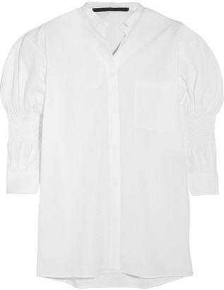 Haider Ackermann - Smocked Cotton Shirt - White $825 thestylecure.com