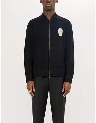 Alexander McQueen Embroidered skull wool bomber cardigan