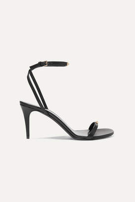 Valentino Garavani The Rockstud Nude 80 Leather Sandals - Black