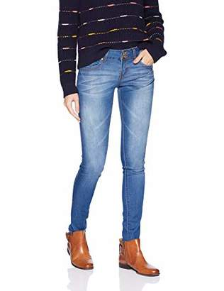 V.I.P.JEANS Junior's Jeans for Women Mid Rise Slim Fit 2 Dark Blue Color Options, Whisker, 1
