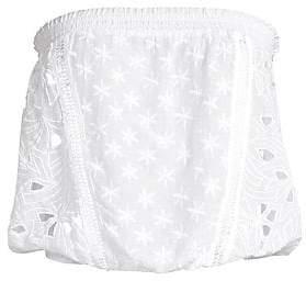 Ramy Brook Women's Nicki Silk-Blend Strapless Crop Top