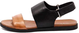 Django & Juliette Harlem Tan-black-black sole Sandals Womens Shoes Casual Sandals-flat Sandals