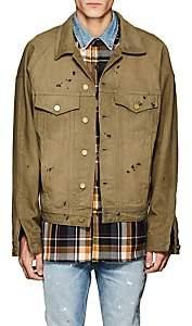 Fear Of God Men's Distressed Cotton Denim Trucker Jacket - Gold