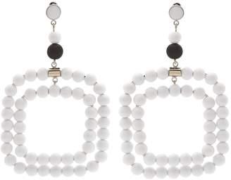 Marni Beaded square-hoop earrings