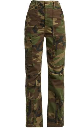 RE/DONE ORIGINALS High-waisted camouflage-print jeans