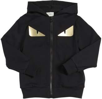 Fendi Monster Eyes Cotton Sweatshirt Hoodie